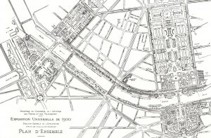 Map of the 1900 Exposition.