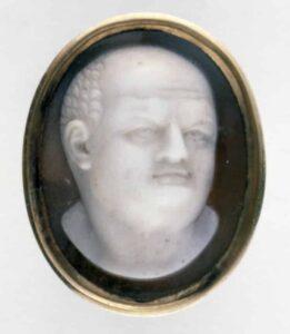 Roman Bust (Vespasian?) c. 18th century, Onyx. © Trustees of the British Museum.