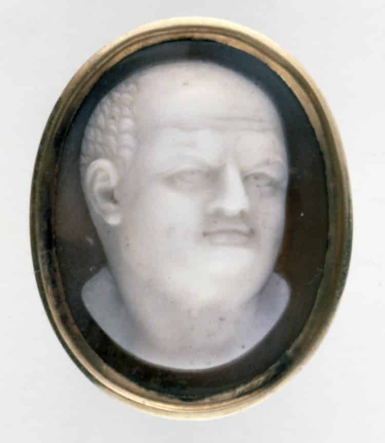 Roman Bust (Vespasian?) c. 18th century, Onyx. © Trustees of the British Museum.