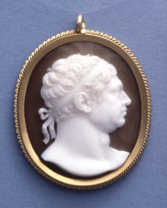 Portrait Bust of George III c. 1816, Sardonyx. © Trustees of the British Museum.