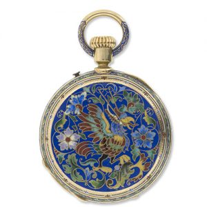 Victorian Cloisonné Enameled Pocket Watch.