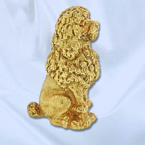 Tiffany & Co. Schlumberger Poodle Lighter. 18k Yellow Gold with Ruby Eyes.