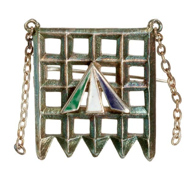Brooch Designed by Sylvia (Emmeline Pankhurst's Daughter) to Commemorate the Suffragists Incarceration at Holloway Prison. Photo Courtesy of Museum of London.