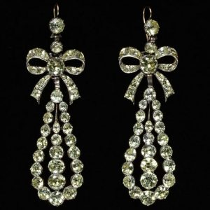 Portuguese Chrysoberyl Earrings. Late 18th Century.