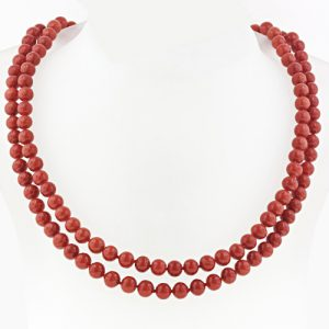 Princess Length Coral Necklace.