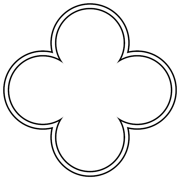 Quatrefoil Outline.