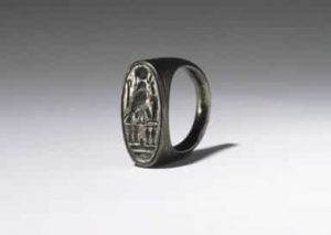 Ring of Ramesses IV, ca. 1152-1145 B.C.E. Silver, 7/8in. (2.3cm). Brooklyn Museum, Charles Edwin Wilbour Fund, 37.727E. Creative Commons-BY-NC.