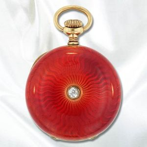 Guilloche Enamel Pocket Watch.