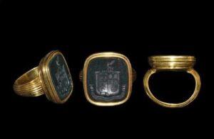 Renaissance Bloodstone Signet Ring.