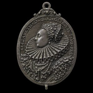 Silver Medal with Bust of Elizabeth, 1588. © The Trustees of the British Museum.
