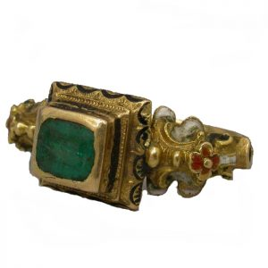 Renaissance Emerald and Enamel Ring.