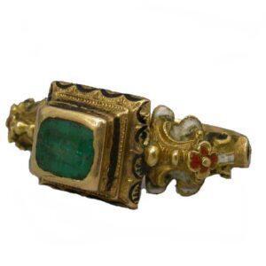 Renaissance Emerald and Enamel Ring.