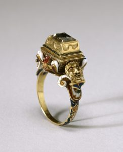 Renaissance Table Cut Diamond Ring.