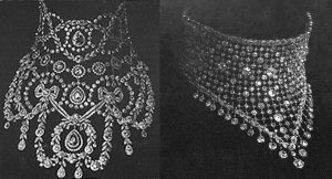 A Pair of Diamond and Platinum Résille Collars by Cartier.