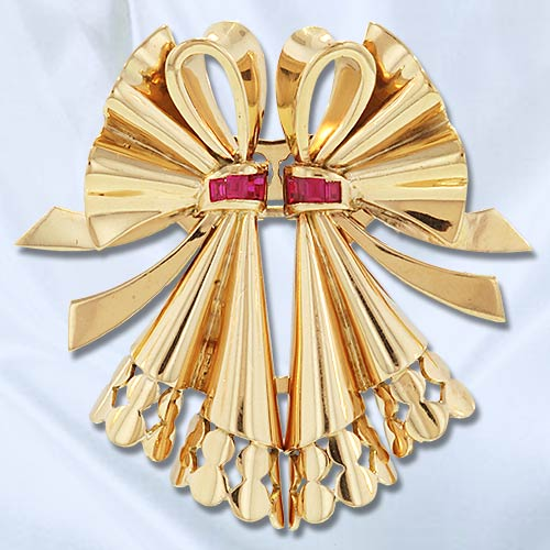 Retro French Bow Double Clip Brooch.jpg