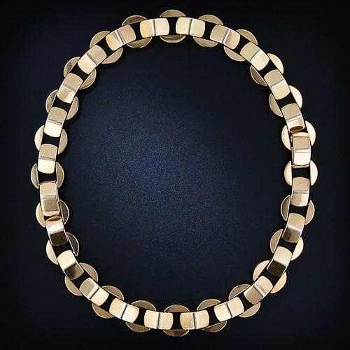 vintage retro antique style bow chain necklace 50s retro multiple choices