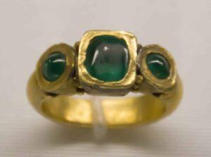 Roman Emerald Ring.