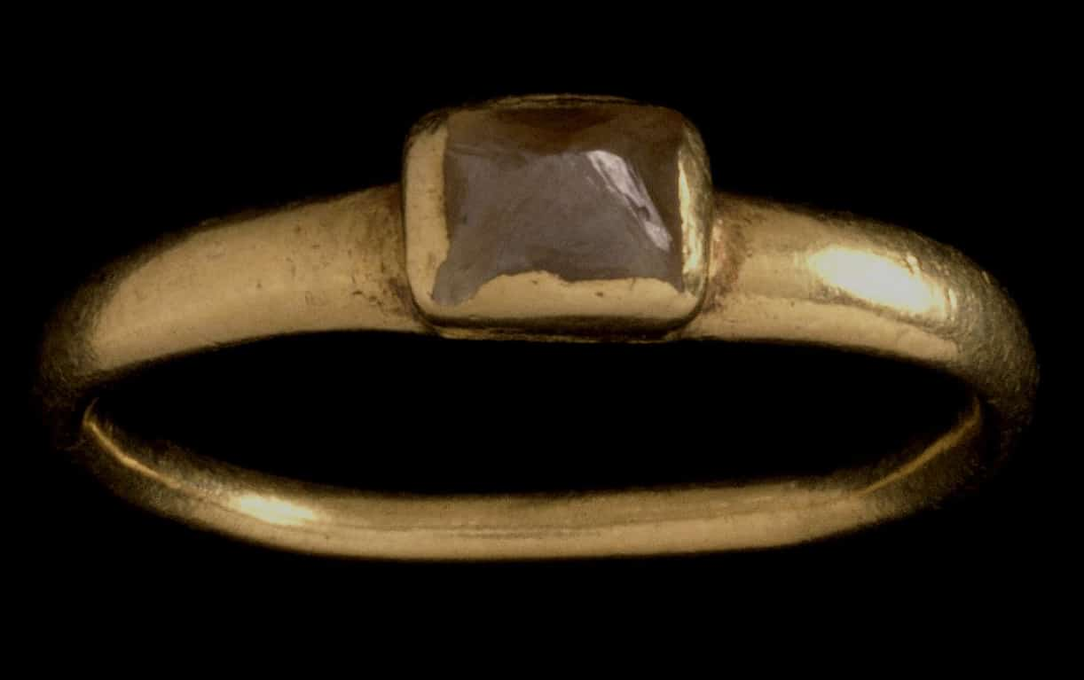 "3rd Century, Roman ""Pointed"" Diamond Ring. © The Trustees of the British Museum."