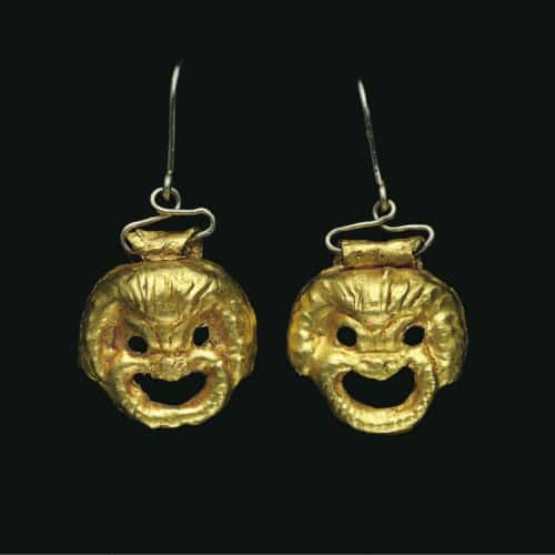 Roman Theater Mask Earrings.jpg