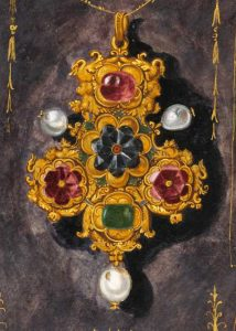 Oil on Canvas by Hans Mielich Depicting One of the Jewels in the Possession of Duchess Anna von Bayern.