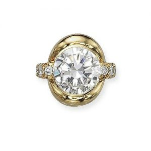 René Boivin Round Diamond Ring. Photo Courtesy of Christie's.