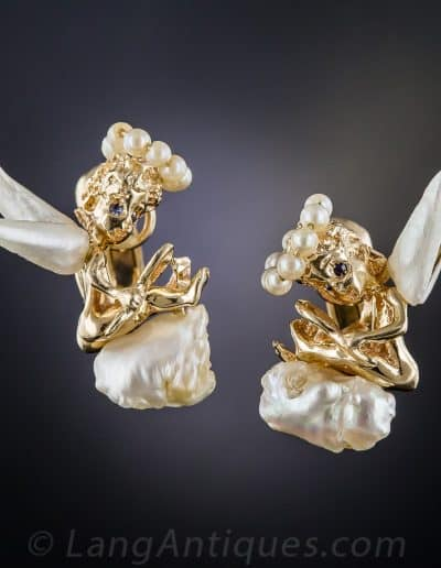 Ruser_Pearl_Angel_Earrings