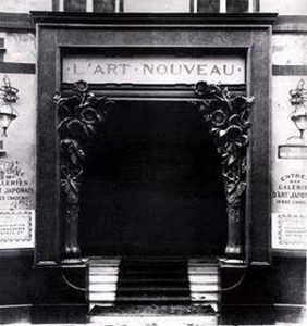 Entrance to Samuel Bing's L'Art Nouveau c.1895.
