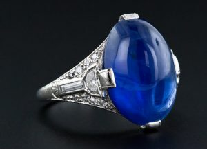 Sapphire Cabochon Ring.