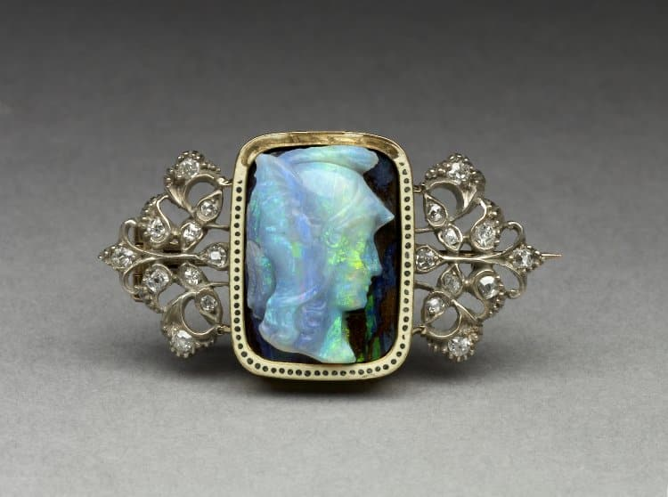 Helmeted Warrior (Minerva?) c. 1900, Opal (attributed) © Trustees of the British Museum.
