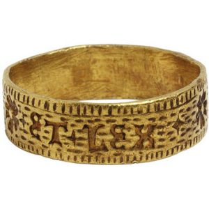 Engraved Ring from the Second Quarter of the 15th Century.