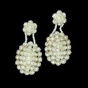 Pair of Seed Pearl Earrings.