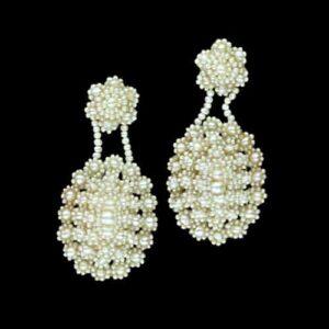 Pair of Seed Pearl Earrings.