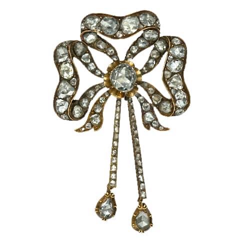 Georgian Diamond and Yellow Gold Sévigné.