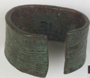Copper Bracelet, attrib: Shawnee c.1700-1800, Ohio.