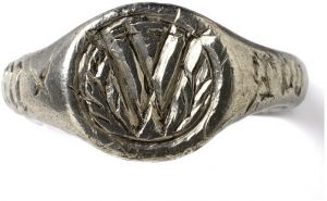 Signet Ring with Initial W c.1450-1550, English
