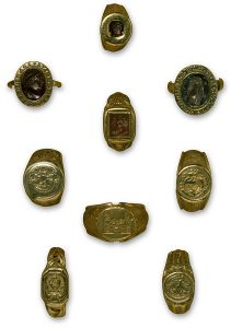 Collection of rings from Europe c. 1380