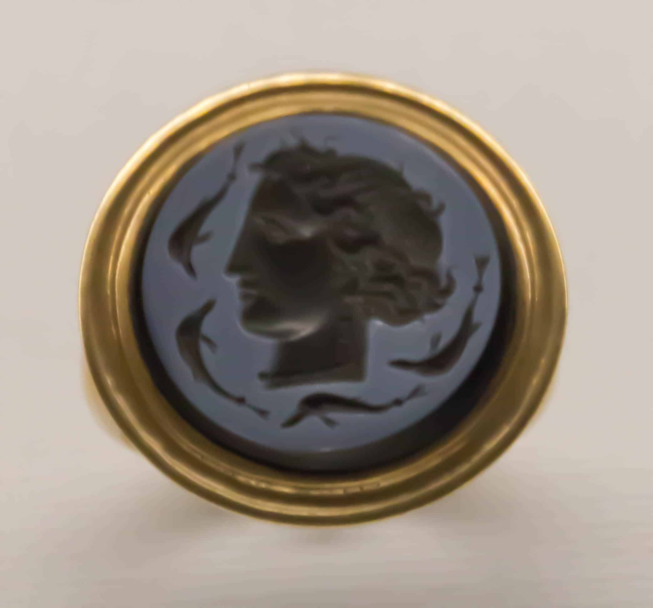 Signet Ring Italy Early 19th Century Agate Intaglio.jpg
