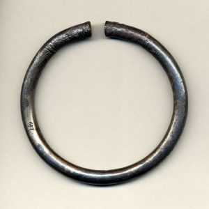 Cast Silver Engraved Armlet Found on Cyrpus, ~1000 BC.
