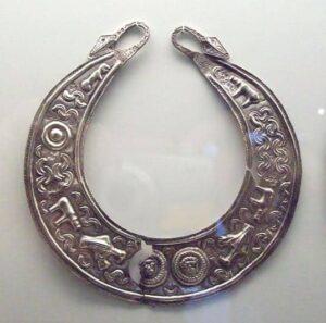 Silver Lunula, 2nd Century BC.