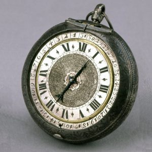 Silver and Leather Pair Cased Verge Watch with Date Indicator. 1665-1675. © The Trustees of the British Museum.