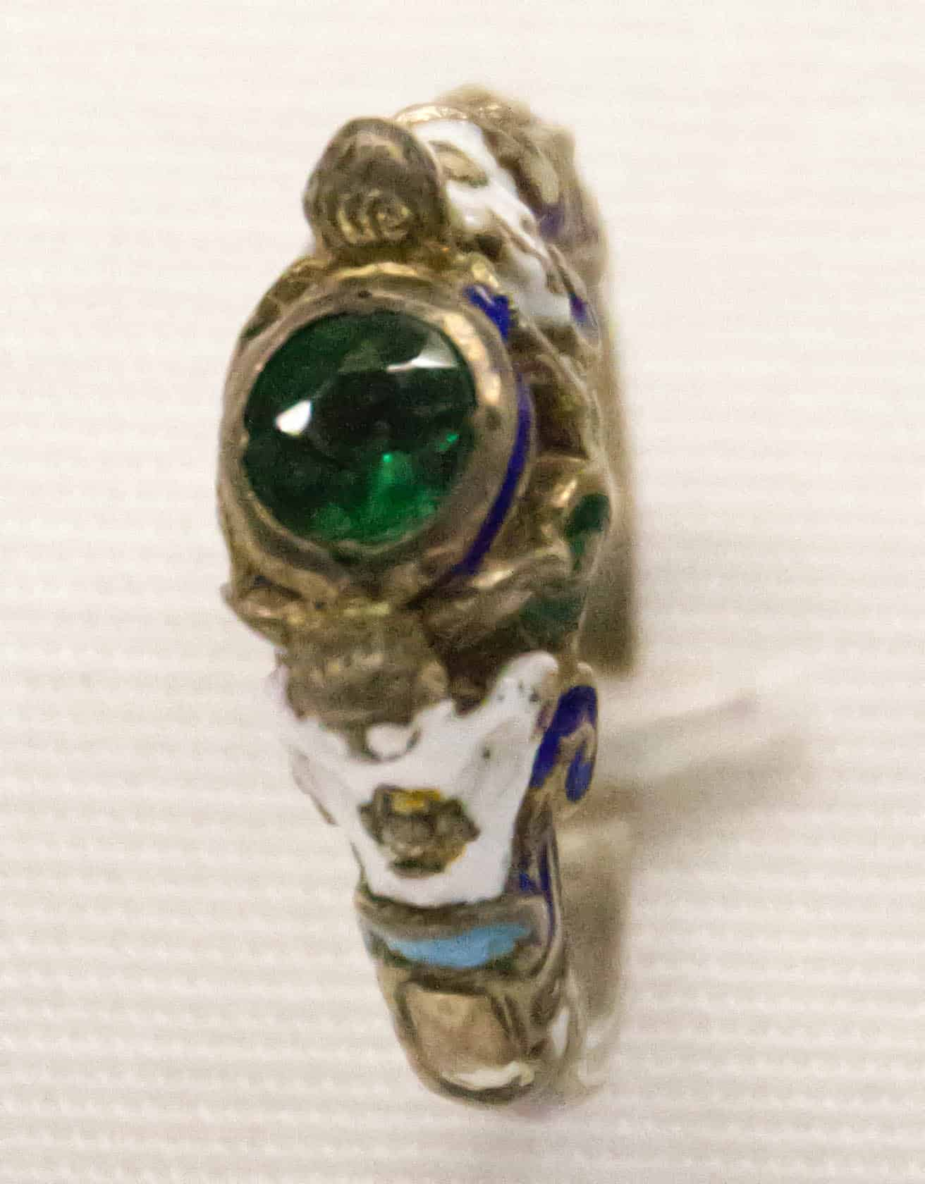 Silver paste enamel ring Germany ca1885.jpg