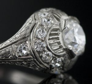 New Single Cuts in an Art Deco Ring.
