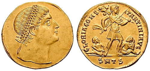 Solidus multiple-Constantine-thessalonica RIC vII 163v.jpg