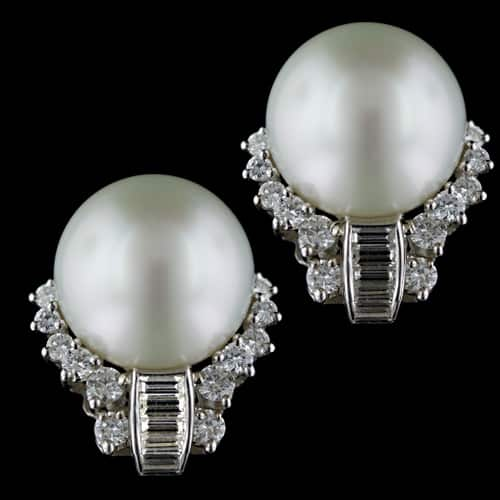 South Sea Pearl Earrings.