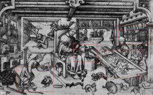 St. Eligius in His Workshop c.1450.