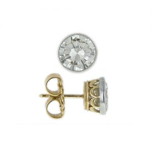 Post and Clutch on a Stud Earring.