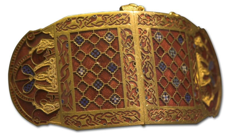 Sutton Hoo Shoulder Clasp, Closed.