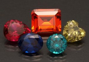 A Selection of Faceted Synthetic Corundum and Spinel.