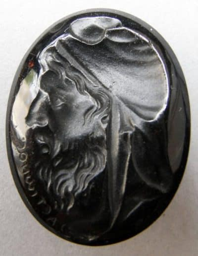 Oval Tassie Intaglio Depicting Bearded Priam, King of Troy, in Phrygian Cap. c. Late 18th Century. © The Trustees of the British Museum.