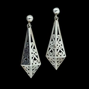 "A Pair of Earrings Stamped ""Taxco."""